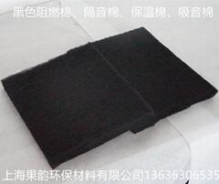 厂家直销 黑色阻燃隔音棉/防火保温棉/耐高温过滤棉 可定制