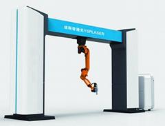 龙门式机器人三维光纤激光切割机