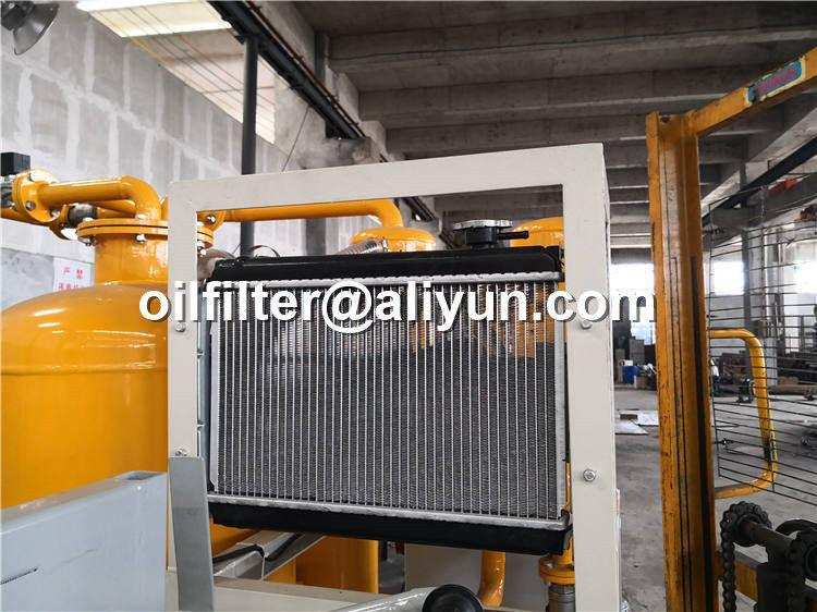 mobile lubricant oil filtration machine with removal of gas and water 2