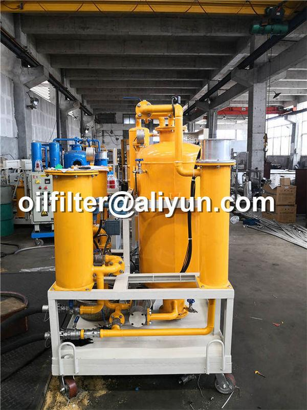 mobile lubricant oil filtration machine with removal of gas and water 4