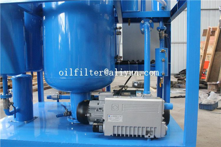 used turbine oil filtration machine which breaking emulsification and degassing 4