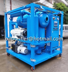 double stage vacuum cable oil filtration machine,insulating oil processing plant