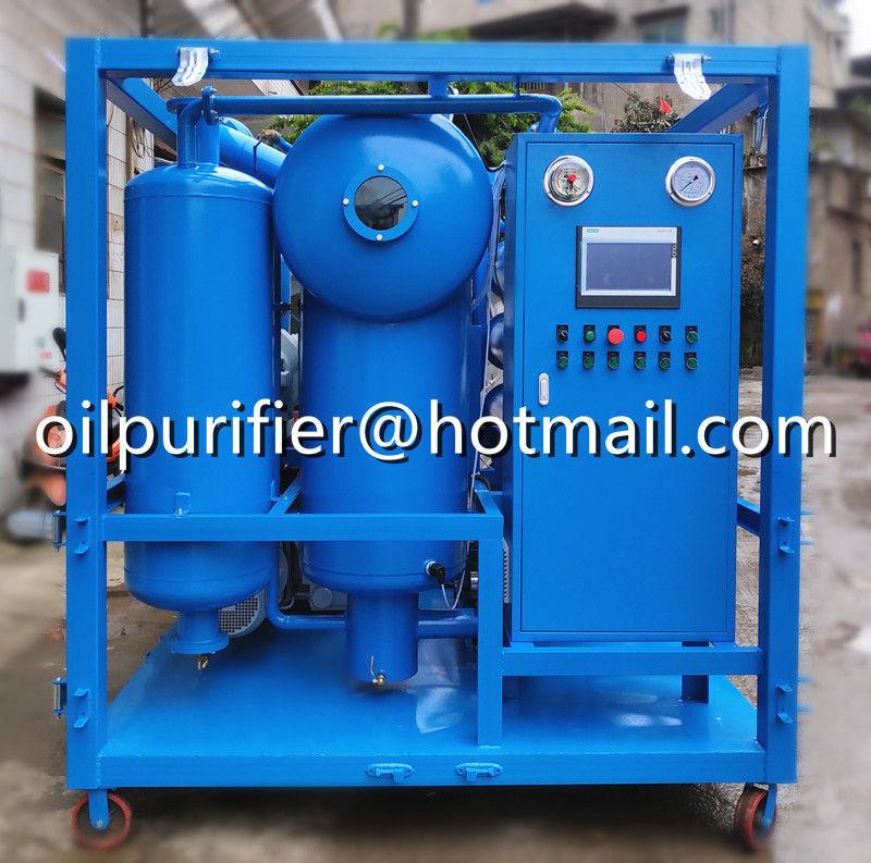 double stage vacuum cable oil filtration machine,insulating oil processing plant 3