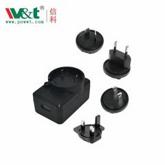 可換插頭電源6V1A認証標準C