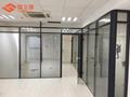 武汉办公室玻璃隔断铝合金带百叶