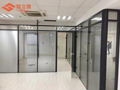 武汉办公室玻璃隔断铝合金带百叶办公高隔间