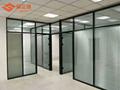 武漢辦公室單層玻璃隔斷鋼化磨砂