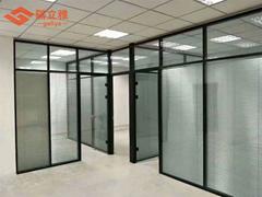 武汉办公室单层玻璃隔断钢化磨砂玻璃隔断墙