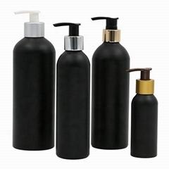 Matt black aluminum perfume bottle with screw neck perfume pump Cosmetic Bottle