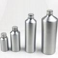 Aluminum bottle with spray pump