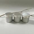 hair Aluminum Jar Wax jar with sticker