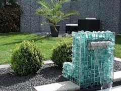 Broken glass rocks for gabion glass block manufacturer colorful