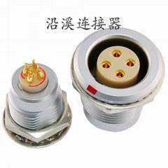 沿溪连接器4芯母座航空接插件仪器信号传输采集器工业设备连接口