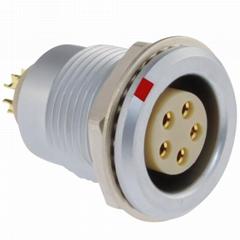 沿溪连接器5芯母座线束信号传输采集器航空接插件工业设备连接口