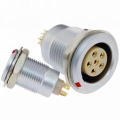 沿溪连接器6芯母座接插件仪器仪表信号传输采集器工业设备连接口