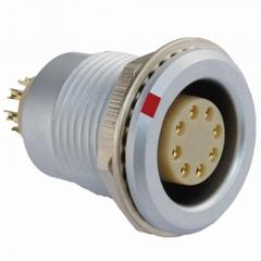 沿溪连接器8芯母座仪器信号传输采集器工业设备连接口接插件线束