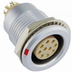 沿溪连接器10芯母座航空接插件信号采集器仪器仪表工业设备连接口