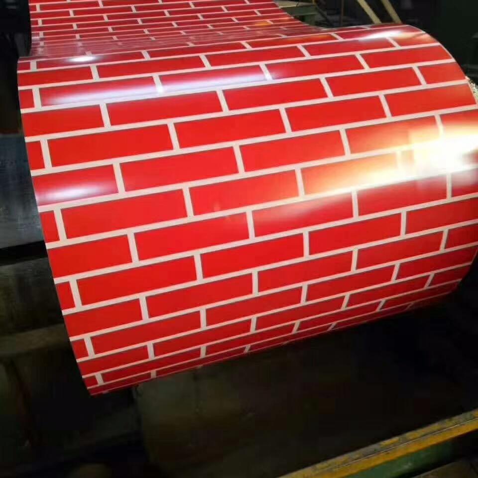 Brick Pattern PPGi Printed Steel Coil 1
