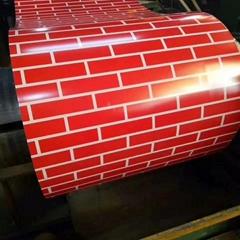 Brick Pattern PPGi Printed Steel Coil