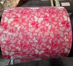 Flower  Pattern PPGi Printed Steel Coil