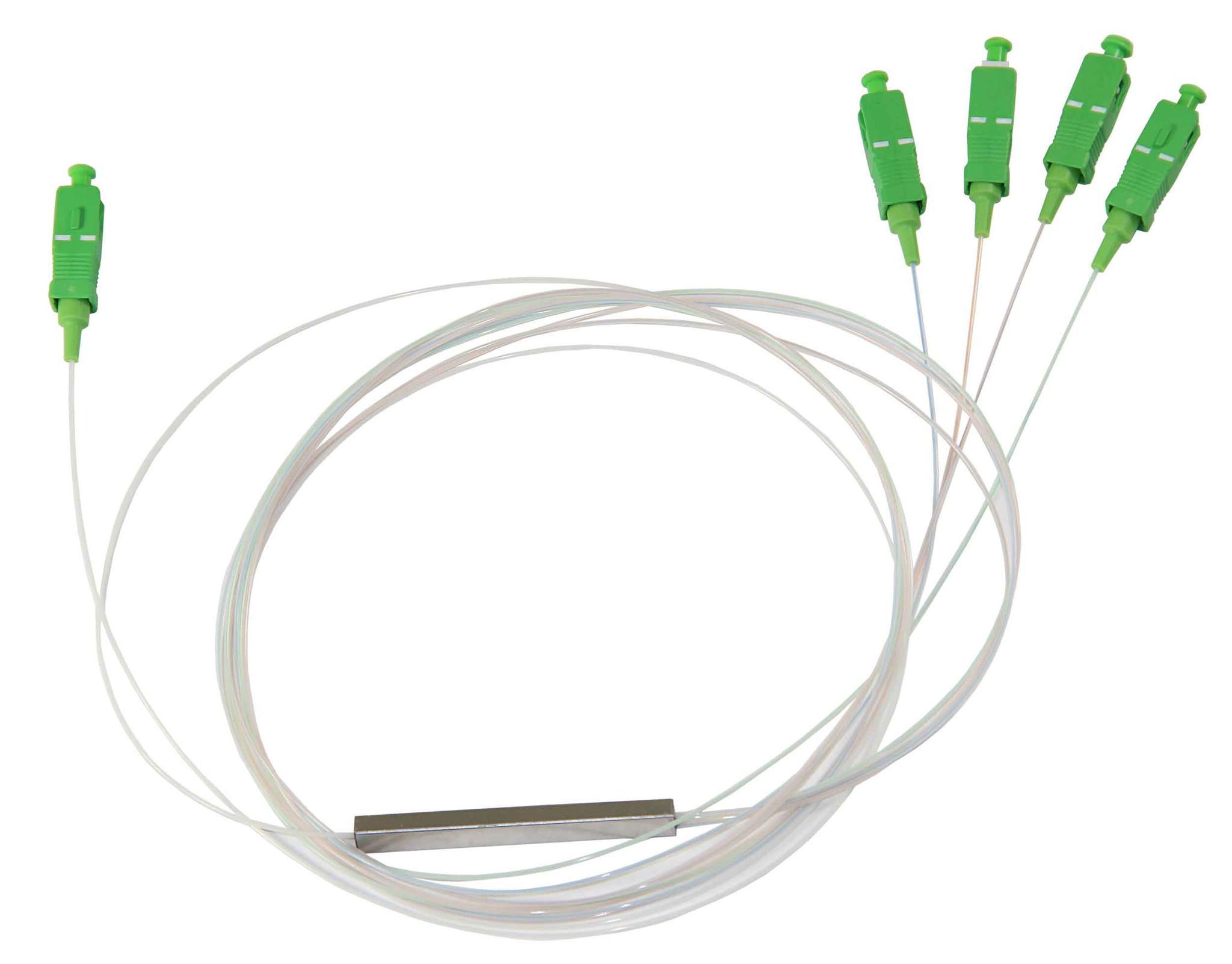 1*4 SC/APC Blockless PLC Splitter Block Type 900um FTTH PON Passive ODN LSZH 1M 1