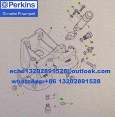 特價出售 原廠Perkins珀金斯帕金斯2806機濾座CH11579