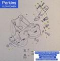 原厂Perkins珀帕金斯发动机2806TAG机滤座CH11579 威尔信发电机组配件