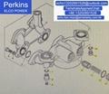 原廠Perkins珀帕金斯發動機2806TAG機濾座CH11579 威爾信發電機組配件 2