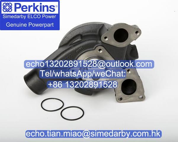 原廠Perkins珀帕金斯發動機水泵T413421卡特新C6.6 C7.1電噴配件 1