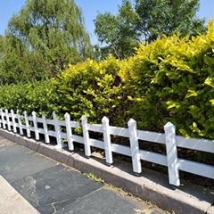 湖北厂家批发草坪护栏 花坛绿化带PVC栅栏
