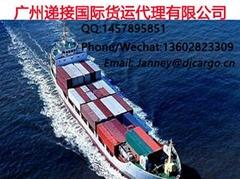 中国服装鞋子专业海运到新加坡双清包派送