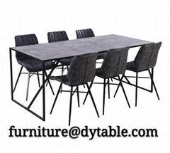 Stylish light luxury dining table