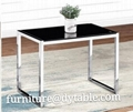 Coffee table metal material living room rectangle