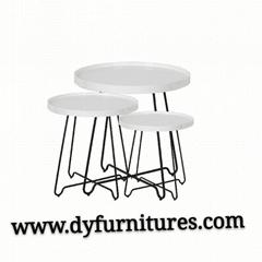 Modern living room furniture metal coffee table