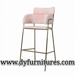 European Modern BarStool chrome gold bar chair
