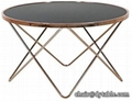 HOT SALE GOLD ROUND COFFEE TABLE FOR LIVING ROOM