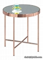 POPULAR CHROMED GOLD COFFEE TABLE END TABLES