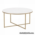 POPULAR GOLD GLASS TOP COFFEE TABLE END TABLE FOR LIVING ROOM