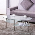 coffee table with chrome leg finish, living room low height dining table,