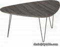 Coffee Table - Durable Steel Legs Overview