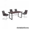 antique designer banquet table MDF top metal frame dining table 1