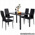 POWDER COATING LEGS DINING CHAIR AND TABLE DINING SETS FOR DINING ROOM SETS