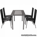 COATING Glass Dining Table and 4 Chairs