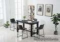 Living room furniture glass top center table design modern dining set