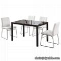 hot sale chromed glass dining room set