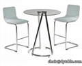 Living room meeting metal office dinner round bar dining table glass coffee tabl