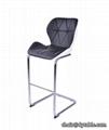 modern unique design american leather high bar chair