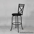 bar chair metal leg leather dining chair China