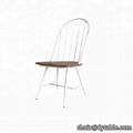 Modern Green Velvet Fabric Dinning Chair Velvet Tub Dining room chair