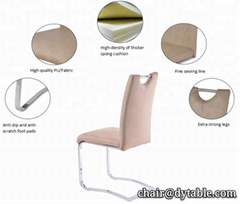 modern handle high back dining chair free sample bazhou furniture living room